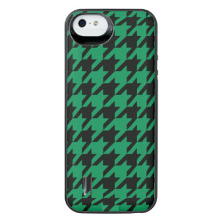 Emerald Houndstooth 2 iPhone SE/5/5s Battery Case