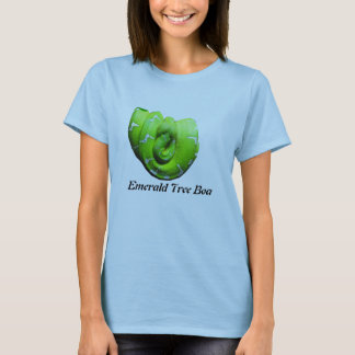 Emerald Tree Boa Ladies Baby Doll T-Shirt