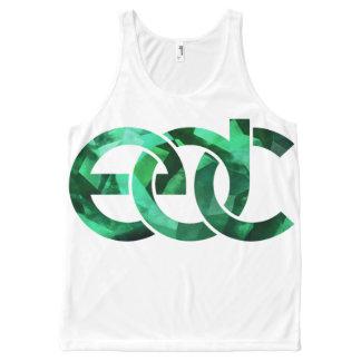 Emerald/white EDM All-Over Print Tank Top