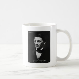 """Emerson """"Pace Of Nature"""" Wisdom Quote Gifts & Tees Mugs"""