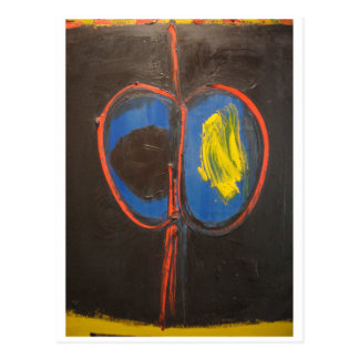 Emerson Woelffer abstract painting Twins 1961 Postcard