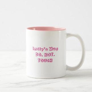 Emily's MugDO. NOT. TOUCH Two-Tone Mug