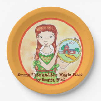 Emma Tate and the Magic Plate paper plate 9 Inch Paper Plate