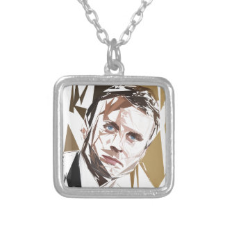 Emmanuel Macron Silver Plated Necklace