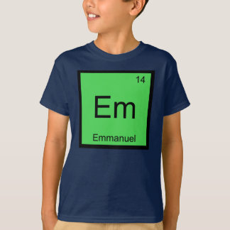 Emmanuel Name Chemistry Element Periodic Table T-Shirt