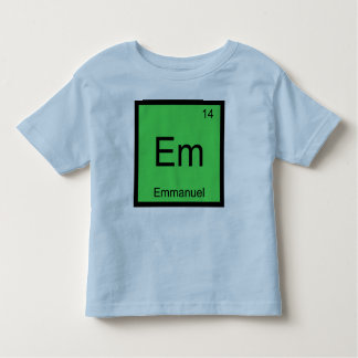 Emmanuel Name Chemistry Element Periodic Table Toddler T-Shirt