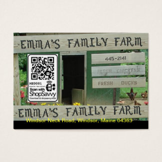 Emma's Family Farm Business Card