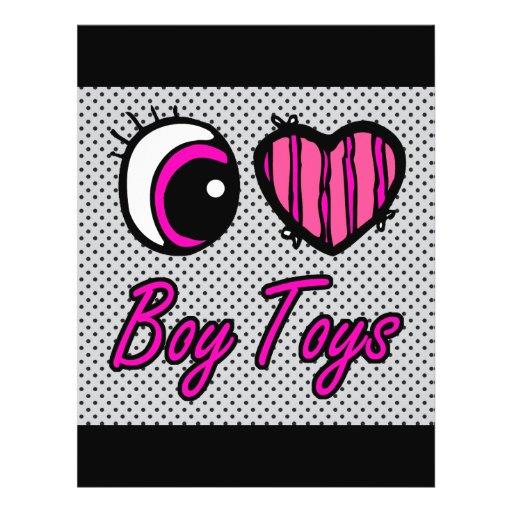 Emo Eye Heart I Love Boy Toys Custom Flyer