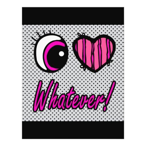 Emo Eye Heart I Love Whatever Flyer