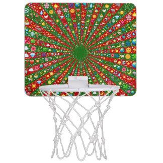 Emoji-art converging rays mini basketball mini basketball backboard