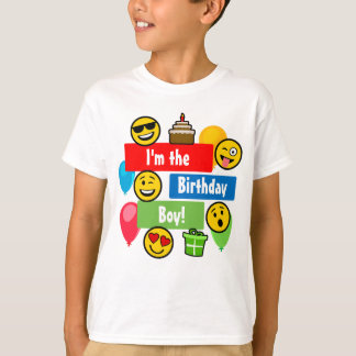 Emoji Birthday Boy T-Shirt