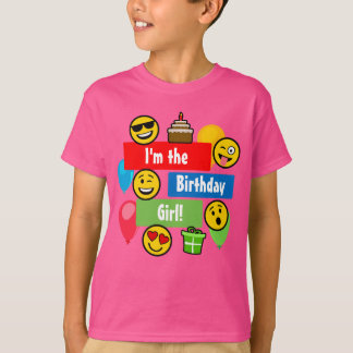 Emoji Birthday Girl T-Shirt
