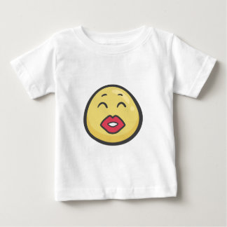 Emoji: Kissing Face With Smiling Eyes Baby T-Shirt