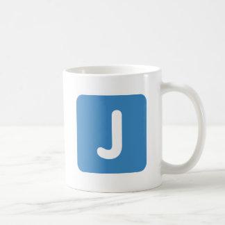 Emoji Letter J Twitter Coffee Mug