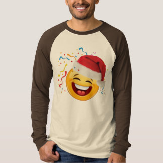 emoji party happy christmas tshirt design