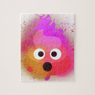 Emoji Poop Spray Paint Pink/Purple Jigsaw Puzzle