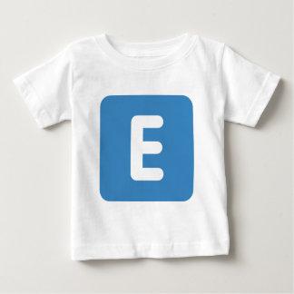 emoji Twitter - Letter E Baby T-Shirt