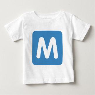 Emoji Twitter - Letter M Baby T-Shirt