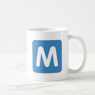 Emoji Twitter - Letter M Coffee Mug