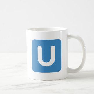 Emoji Twitter - Letter U Coffee Mug