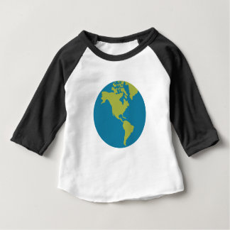 Emojis Planet Earth World Continents Designs Baby T-Shirt