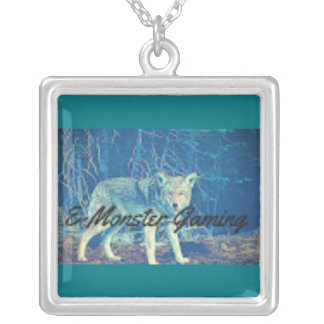 emonster jewel silver plated necklace