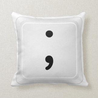 emoticon - semicolon Pillow