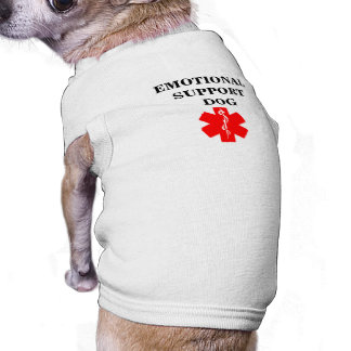 Emotional Support Dog Service Animal Tank Top Tee Sleeveless Dog Shirt