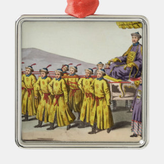 Emperor Ch'ien Lung carried in Triumph, plate 18 f Christmas Ornament