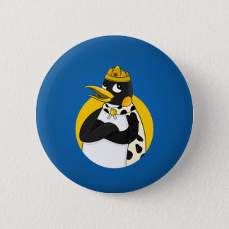 Emperor penguin cartoon 6 cm round badge