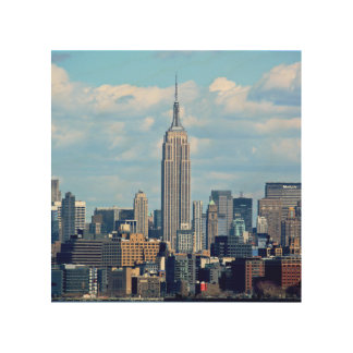 Empire State Cityscape Wood Print