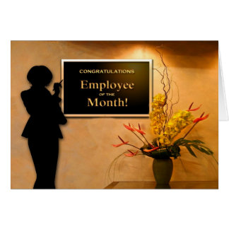 Employee of the Month Congratulations Card