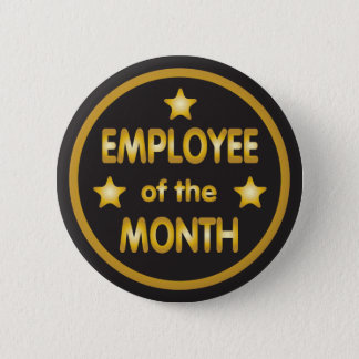 Employee of the Month Gold Stars 6 Cm Round Badge