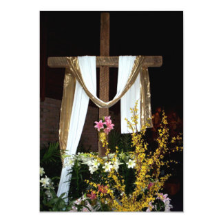 Empty Easter Cross of Jesus' Resurrection Custom Invites