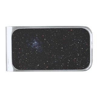 EMPTY SPACE an outer space design Silver Finish Money Clip