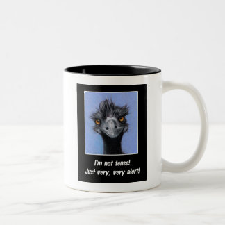 EMU: FUNNY SAYING FOR TENSE BOSS OR OTHERS Two-Tone COFFEE MUG