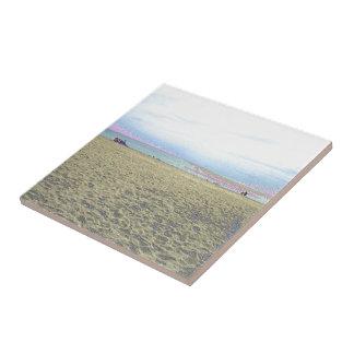 Enamel Golden Beach Image Themed Merchandise Tile
