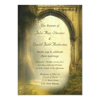 Enchanted Forest Arch Wedding Card