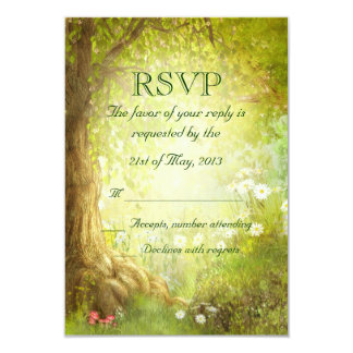 Enchanted Forest Scene RSVP 9 Cm X 13 Cm Invitation Card