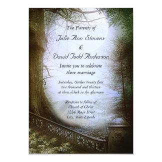 Enchanted Forest Scene Wedding 13 Cm X 18 Cm Invitation Card