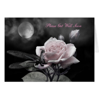enchanted nights pink, Please Get Well Soon Greeting Card