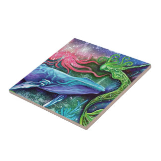Enchanted Ocean Art Small Square Tile