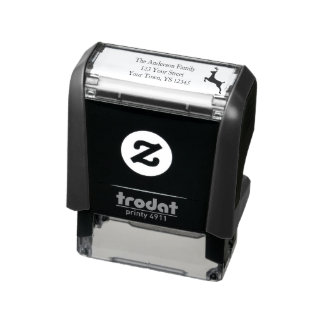 Enchanted Season Holiday Address Self-inking Stamp