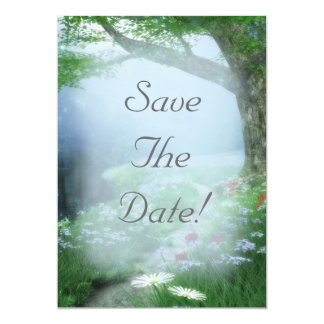 Enchanted Woodland Forest Save The Date Wedding 13 Cm X 18 Cm Invitation Card