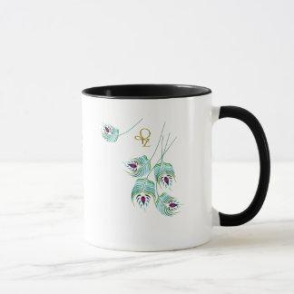 Enchanteur Oval White & Black Trim 11oz Mug