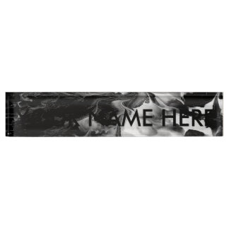 ENCHANTMENT  (black & white abstract art) ~ Nameplate