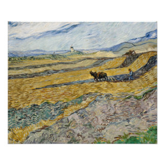 Enclosed Field with Ploughman by Vincent Van Gogh Photo