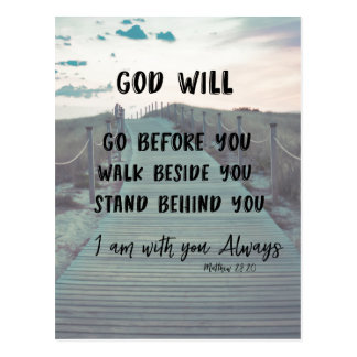 Encouragement and Comfort Bible Verse with Quote Postcard