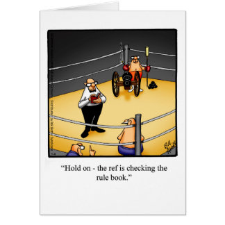 Encouragement Humour Greeting Card