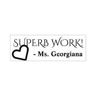 "Encouraging ""SUPERB WORK!"" Teacher Rubber Stamp"